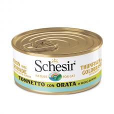 Hrana umeda pentru pisici Schesir in Supa Ton si Dorada 70gr