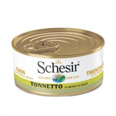 Hrana umeda pentru pisici Schesir Supa Ton 70gr