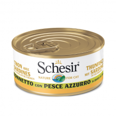 Hrana umeda pentru pisici Schesir in Supa de ton si peste oceanic 70 gr
