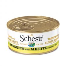 Hrana umeda pentru pisici Schesir in supa cu ton si pestisori 70 g
