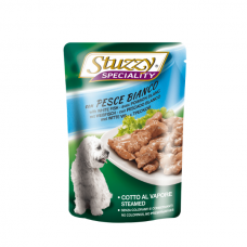 Hrana umeda pentru caini Stuzzy Adult cu peste alb 100 g
