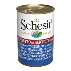 Hrana umeda pentru pisici Schesir Ton si Pestisori 140gr