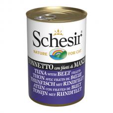 Hrana umeda pentru pisici Schesir Ton cu vita file 140 g