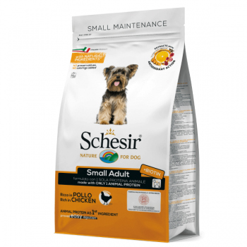 Hrana uscata pentru caini Schesir Small Adult Monoprotein cu pui 800 g