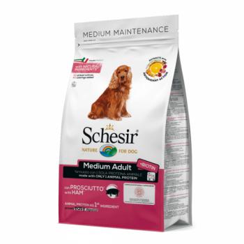 Hrana uscata pentru caini Schesir Medium Adult Monoprotein cu sunca 12 kg