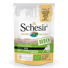Hrana umeda pentru caini Schesir Bio Pui 85g