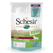 Hrana umeda pentru caini Schesir Bio Puppy Pui 85g