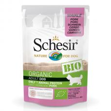 Hrana umeda pentru caini Schesir Bio Porc 85g