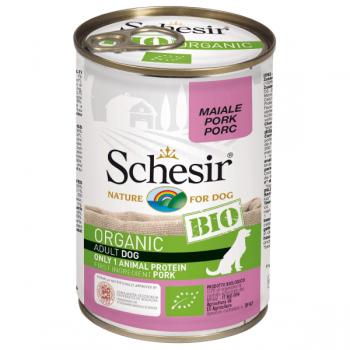 Hrana umeda pentru caini Schesir Bio Porc 400gr