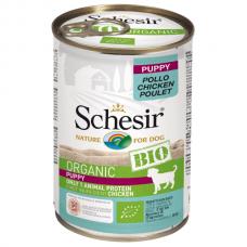 Hrana umeda pentru caini Schesir Bio Puppy 400 gr