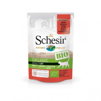 Hrană umedă pentru pisici Schesir Bio cu Vită 85 gr