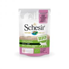 Hrană umedă pentru pisici Schesir Bio cu Porc 85 gr