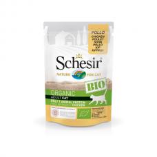 Hrana umeda pentru pisici Schesir Bio cu Pui 85 gr