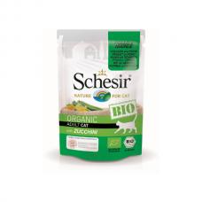 Hrană umedă pentru pisici Schesir Bio cu Pui, Porc şi Zucchini 85 gr