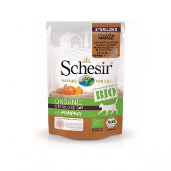 Hrană umedă pentru pisici Schesir Bio cu Pui/Porc/Dovleac 85 gr