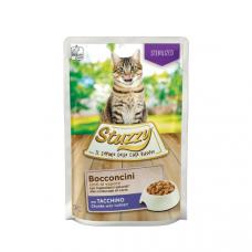 Hrana umeda pentru pisici Stuzzy Sterilized Bucati de curcan in sos 85g