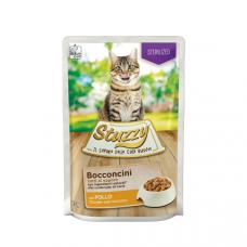 Hrana umeda pentru pisici Stuzzy Sterilized Bucati de pui in sos 85g