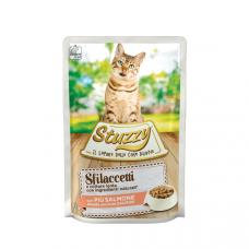 Hrana umeda pentru pisici Stuzzy Fasii de somon in sos 85g