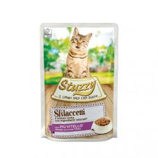 Hrana umeda pentru pisici Stuzzy Fasii de vitel in sos 85g