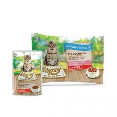 Hrana umeda pentru pisici Stuzzy Pack Bucati de sunca&vita in sos 4x85g