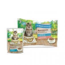 Hrana umeda pentru pisici Stuzzy Pack Bucati de cod&somon in gelatina 4x85g