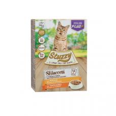 Hrana umeda pentru pisici Stuzzy Sterilized Pack Bucati de pui&curcan in sos 12x85g
