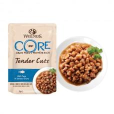 Hrana umeda pentru pisicii Wellness Core Tender Cuts cu ton in sos 85 g