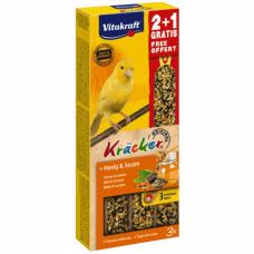 Baton pentru canari Vitakraft Kracker Miere & Susan 60gr+30gr Gratis