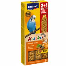 Baton pentru perusi Vitakraft Kracker Miere 60 gr+30 gr Gratis