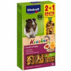 Baton pentru porcusori de Guineea Vitakraft Kracker Fructe 112gr +56gr Gratis