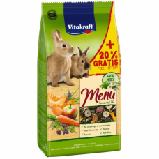 Hrana pentru iepuri Vitakraft Premium Menu 1kg+20% Gratis