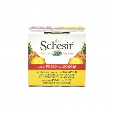 Hrana umeda pentru caini Schesir Fruit cu pui si ananas 150 g