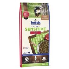 Hrana uscata pentru caini Bosch Sensitive cu miel si orez 15 kg