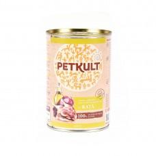 Hrana umeda pentru caini Petkult Adult cu rata 400 g