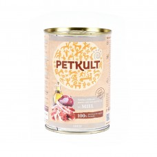Hrana umeda pentru caini Petkult Adult cu miel 400 g