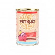 Hrana umeda pentru caini Petkult Junior cu vita 400 g