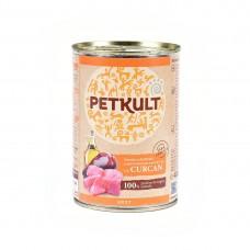 Hrana umeda pentru caini Petkult Adult cu curcan 400 g
