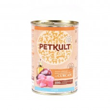 Hrana umeda pentru caini Petkult Junior cu curcan 400 g