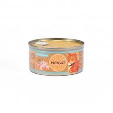 Hrana umeda pentru pisici Petkult cu pui cu iepure 80 gr
