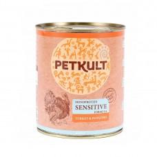 Hrana umeda pentru caini Petkult Sensitive cu curcan si cartof 800 g