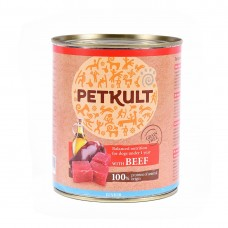 Hrana umeda pentru caini Petkult Junior cu vita 800 g