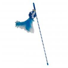 Jucarie pentru pisici Enjoy undita cu bila si pene albastre