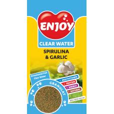 Hrana pentru Pesti Enjoy cu Spirulina si Usturoi Granule 250ml