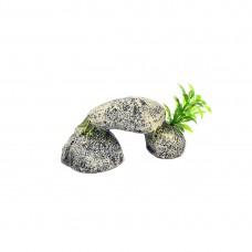 Decor pentru Acvariu Enjoy Piatra cu Plante 13x6.6x5.5cm