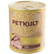Hrana umeda pentru caini Petkult Adult cu pui 800 gr
