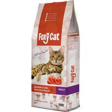 Hrana uscata pentru pisici Foxy Cat cu somon ton legume 15 kg