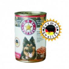 Hrana umeda pentru caini Dog Patrol cu vita 1250 g