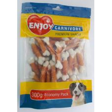 Recompense pentru caini oase cu calciu si pui Enjoy Carnivore 300 g