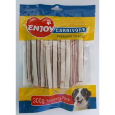 Recompense pentru caini Enjoy Carnivore Sandwich cu pui si cod 300 g