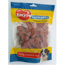 Recompense pentru caini Enjoy Carnivore cu miel si orez 300 g